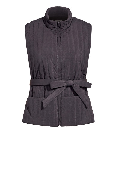 Sleek Tie Vest - steel