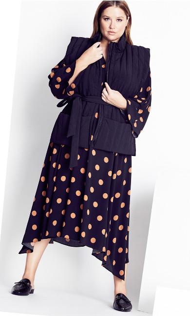 Rouche Waist Dress - fudge