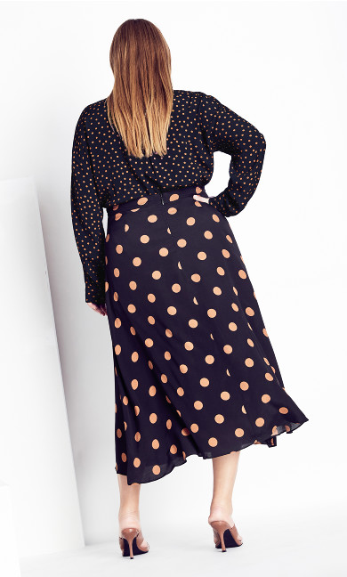 Fudge Spot Skirt - black