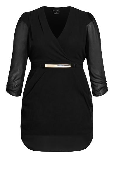 Wrap Affair Dress - black