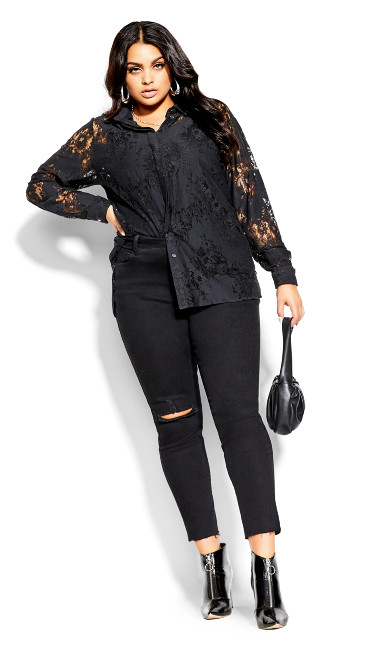 Lacey Love Top - black
