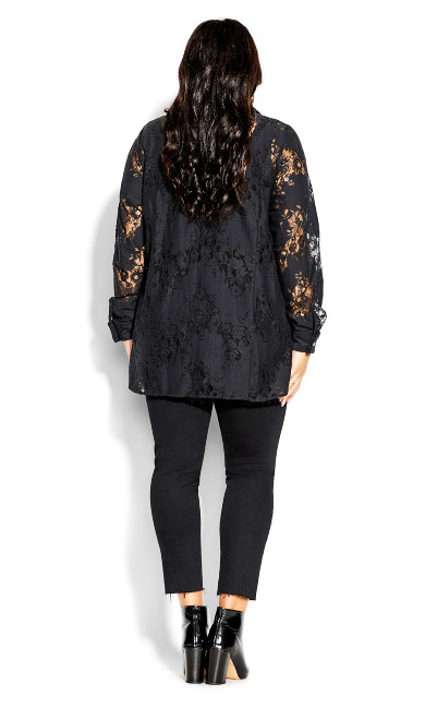 Lacy Love Top - black