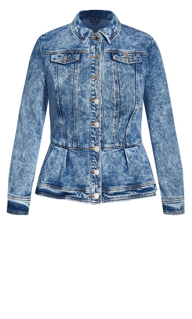Denim Ruffle Jacket - denim