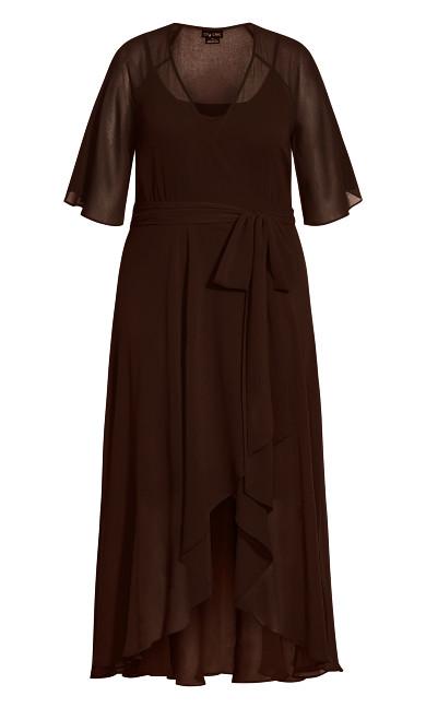 Enthral Me Maxi Dress - chocolate