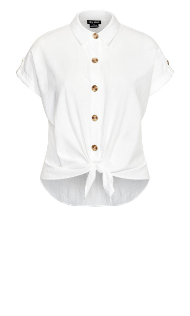 Button Explore Shirt - ivory