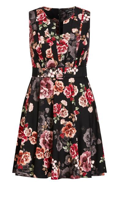 French Bouquet Dress - black