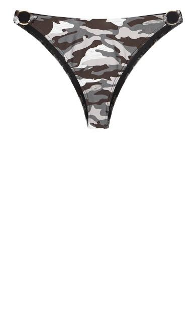 Ingrid Print Bikini Brief - black camo