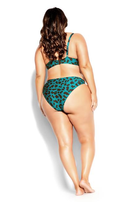Ingrid Animal Bikini Brief - jade