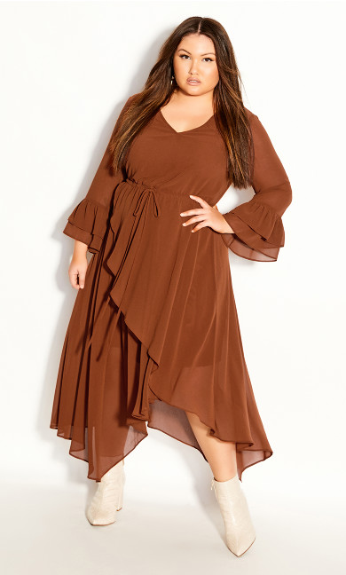 Plus Size Hidden Treasure Maxi Dress - ginger