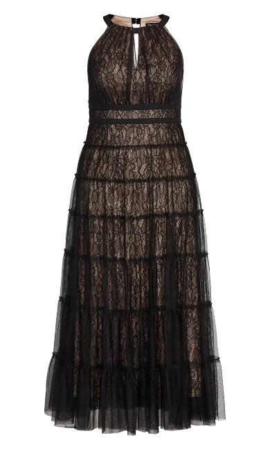 Royal Tier Maxi Dress - black