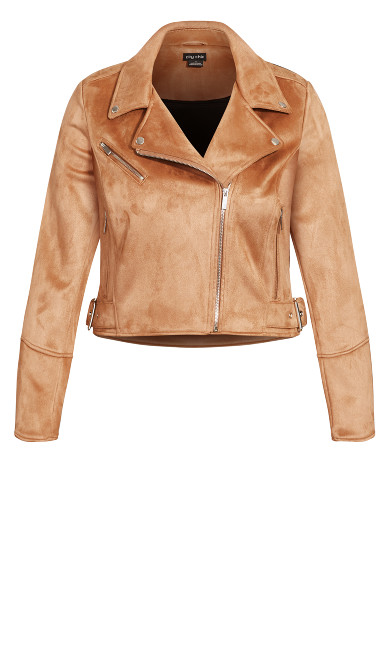 Sueded Love Jacket - tan