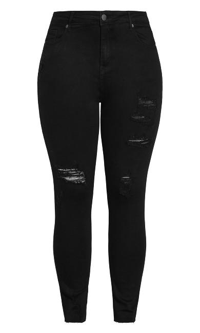 Mix Up Skinny Jean - black