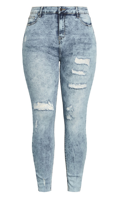 Mix Up Skinny Jean - denim