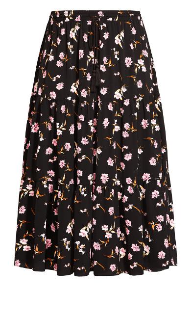 Fresh Posy Skirt - black