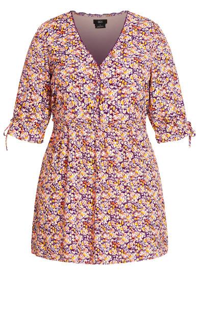 Fresh Ditsy Dress - purple