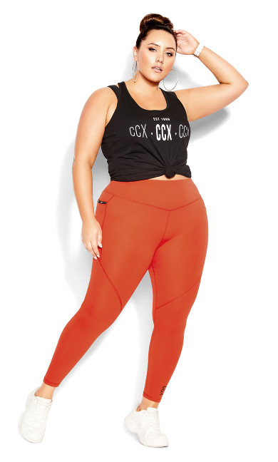 Active Full Length Legging - chilli