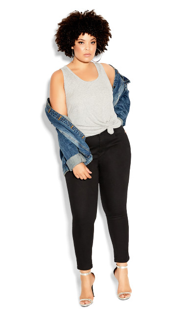 Asha Short Skinny Jean - black