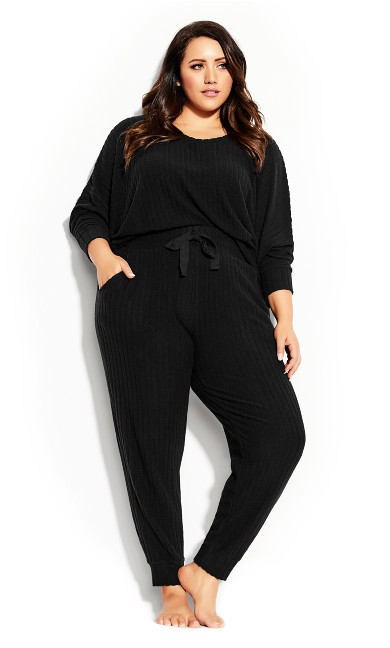 Plus Size Ella Sleep Pant - black