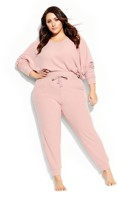 Plus Size Ella Sleep Pant - blush