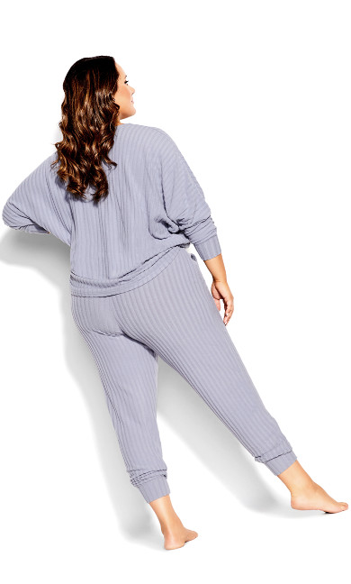 Ella Sleep Pant - dusty blue