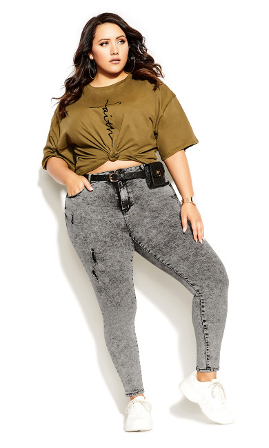 Plus Size Harley Chill Out Jean - acid wash