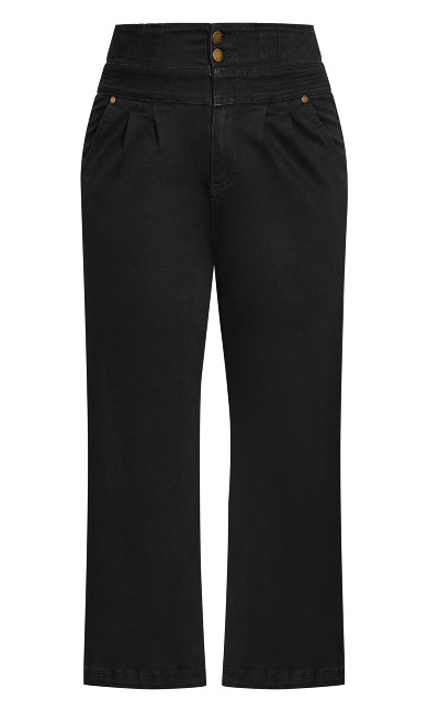 Harley Denim Culotte Jean - black