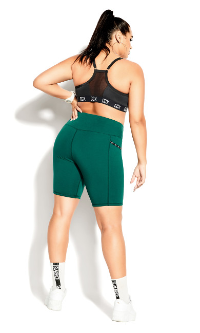 Let's Go Bike Short - sea green