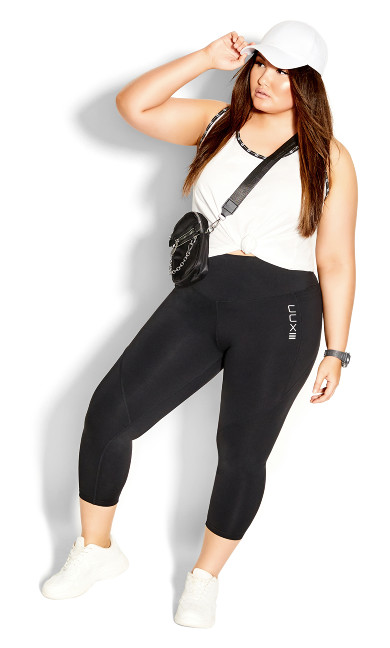 Plus Size Takedown 7/8 Legging - black