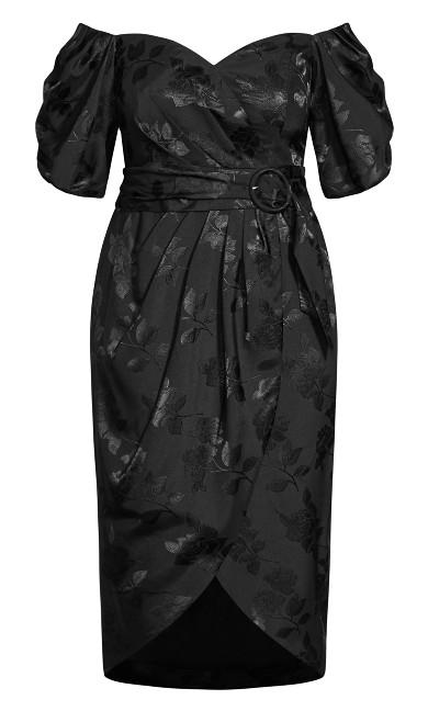 Lady Jacquard Dress - black