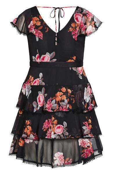 Floral Crush Dress - black