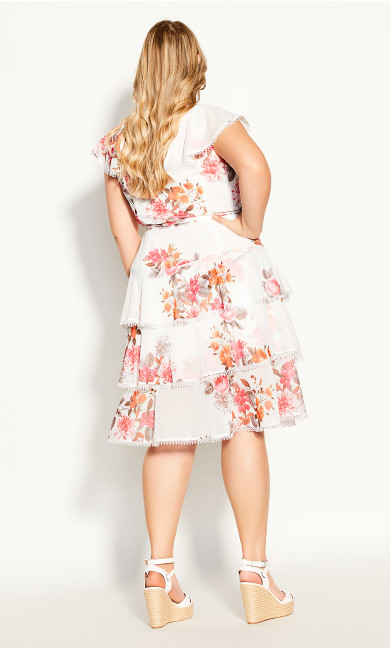 Floral Crush Dress - ivory