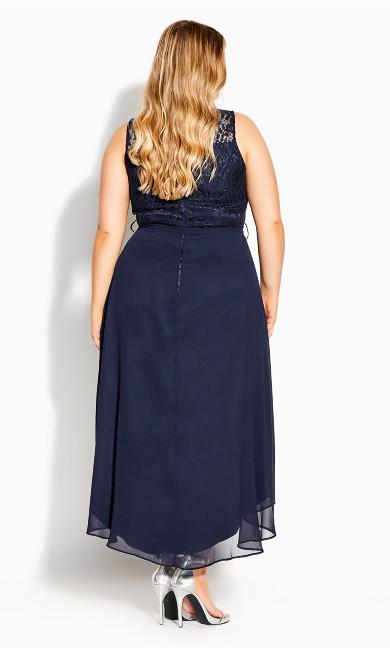 Hi Lo Lover Dress - navy