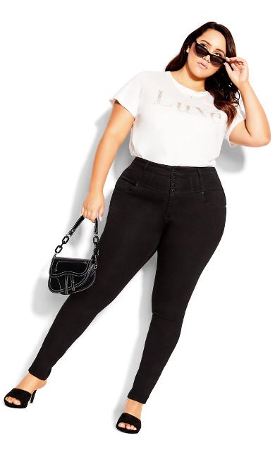 Harley Hi Waist Jean - black