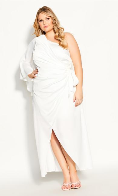 Plus Size Infinite Maxi Dress - ivory