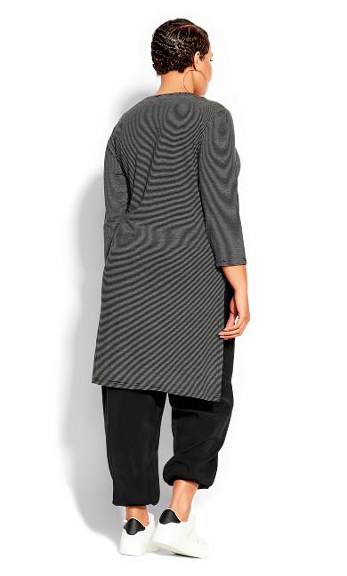 Simple Stripe Top - black