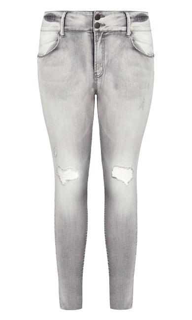 Asha Grit Skinny Jean - grey