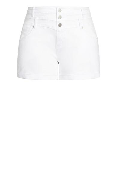 High Waist Short - white