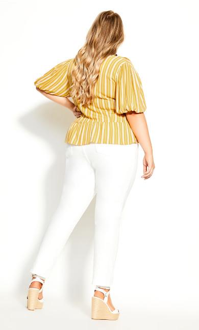 Sun Stripe Shirt - mustard