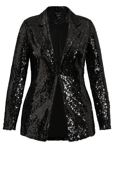 Sequin Seduction Jacket - black