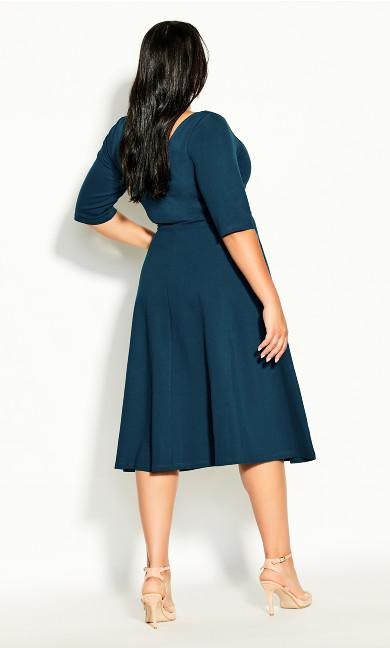 Cute Girl Elbow Sleeve Dress - alpine