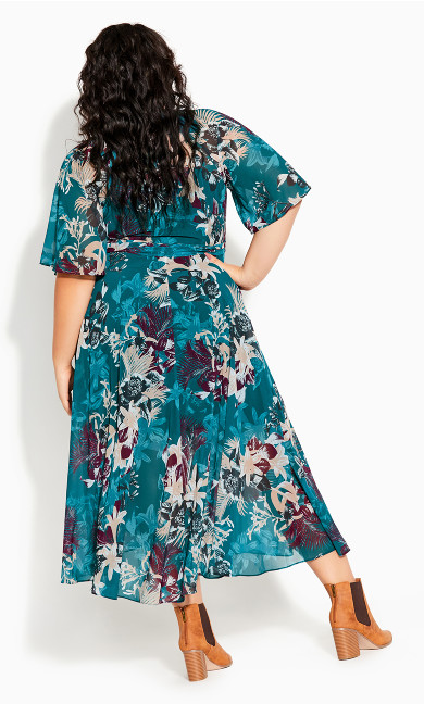 Envelop Me Maxi Dress - teal