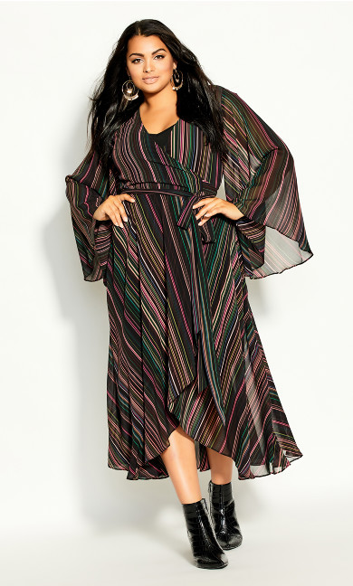 Illusion Maxi Dress - black