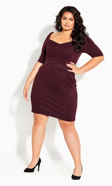 Illusive Sleeve Dress - oxblood