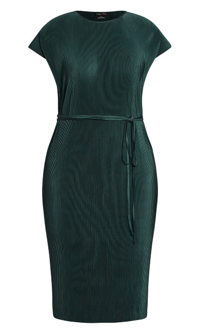 Baby Pleat Dress - seagreen
