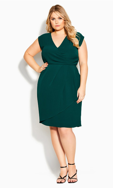Classic Wrap Dress - seagreen
