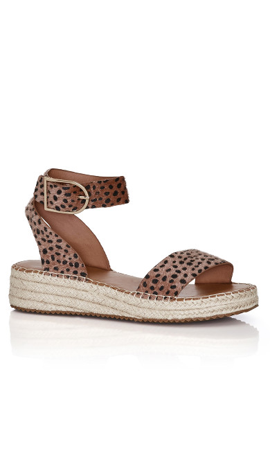 Plus Size Melody Print Platform - tan