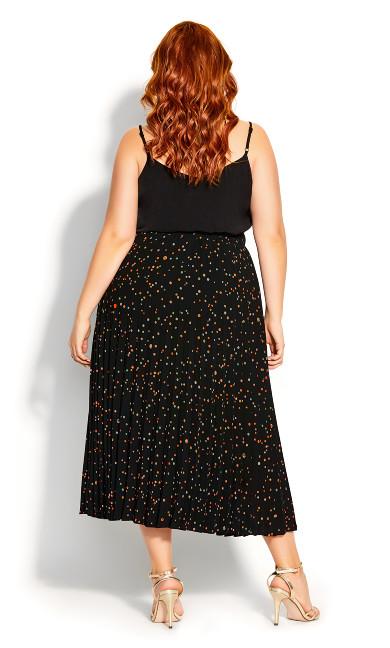 Prism Spot Skirt - black