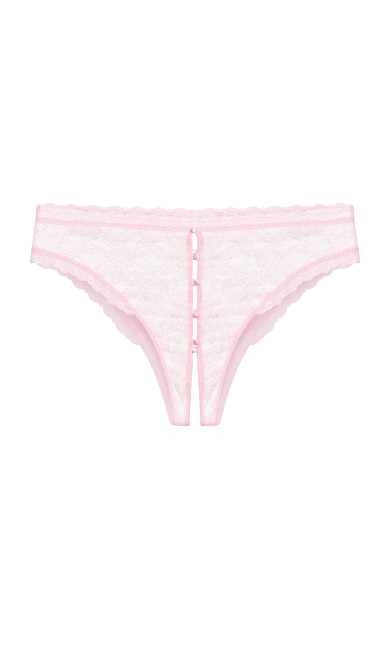 Gia Crotchless Panty - baby pink