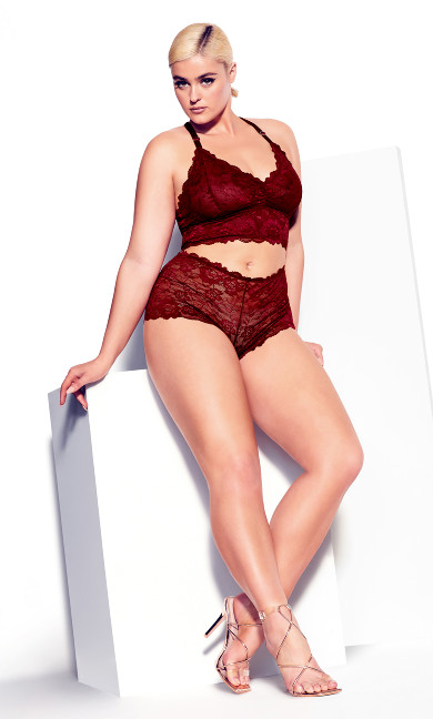 Kira Lace Bralette - pomegranate