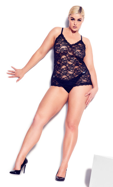 All Lace Cami - black